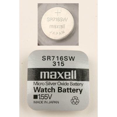 Батарейка серебряно-цинковая часовая MAXELL SR716SW 315