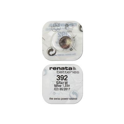 Батарейка серебряно-цинковая часовая RENATA SR41W 392, в упак 10 шт