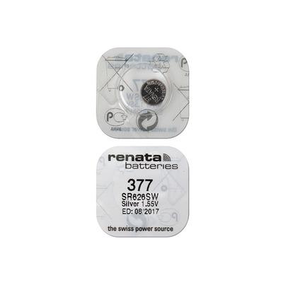 Батарейка серебряно-цинковая часовая RENATA SR626SW 377, в упак 10 шт