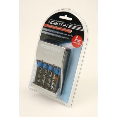 Зарядное устройство с аккумуляторами ROBITON Smart S500-4MHAA BL1