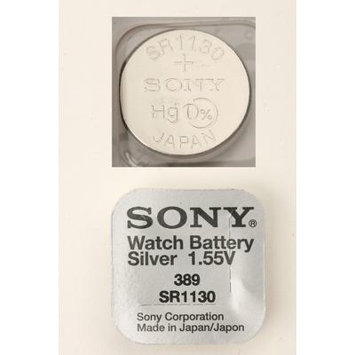 Батарейка серебряно-цинковая часовая SONY SR1130W 389