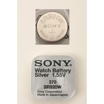 Батарейка серебряно-цинковая часовая SONY SR920W 370