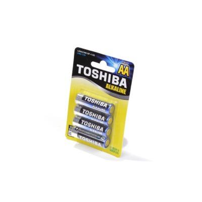 Батарейка бытовая стандартных типоразмеров TOSHIBA Alkaline LR6GCNN BP-4 SS LR6 BL4