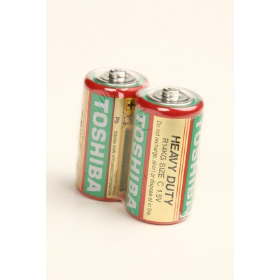 Батарейка бытовая стандартных типоразмеров TOSHIBA Heavy Duty R14 SR2, в упак 24 шт