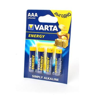 Батарейка бытовая стандартных типоразмеров VARTA ENERGY 4103 LR03 BL4