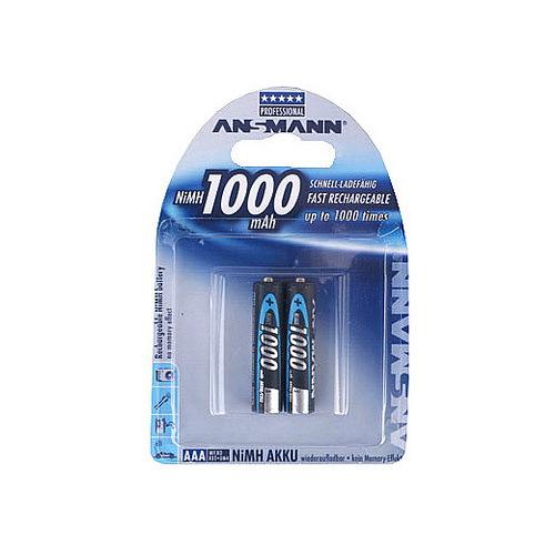 Аккумулятор цилиндрический ANSMANN 1000 AAA 5030892 BL2