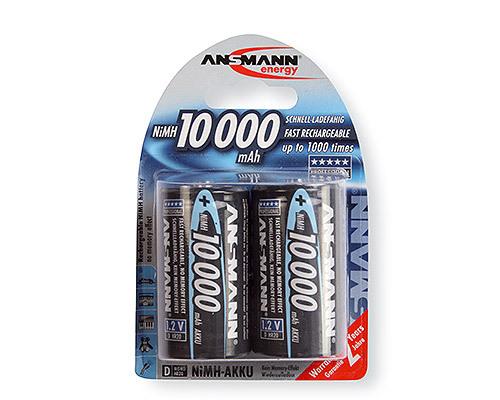 Аккумулятор цилиндрический Аккумулятор ANSMANN 10000 D 5030642 BL2