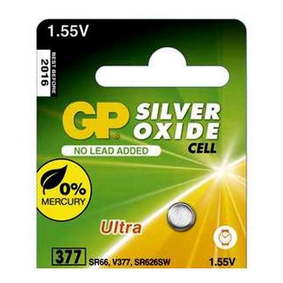 Батарейка серебряно-цинковая часовая GP 377E