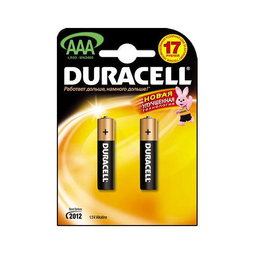Батарейка Элемент питания DURACELL MN2400 BL2