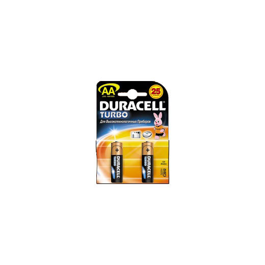 Батарейка Элемент питания DURACELL MN1500 TURBO BL2