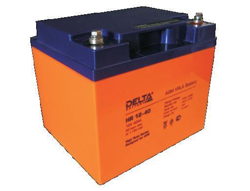 Аккумулятор Свинцово кислотный аккумулятор, с повышенной энергоотдачей для ИБП DELTA HR12–40