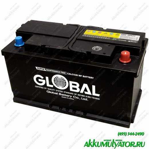 Аккумулятор АКБ GLOBAL SMF 58827