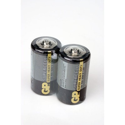 Батарейка бытовая стандартных типоразмеров GP Supercell 13S/R20 SR2, в упак 20 шт