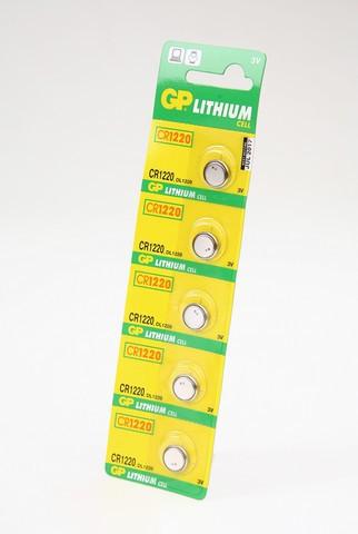 Батарейка дисковая литиевая GP Lithium CR1220-C5 CR1220 BL5