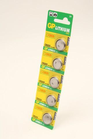 Батарейка Элемент питания GP CR2025 BL5