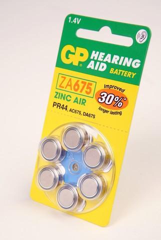 Батарейка GP Hearing Aid ZA675-D6 BL6
