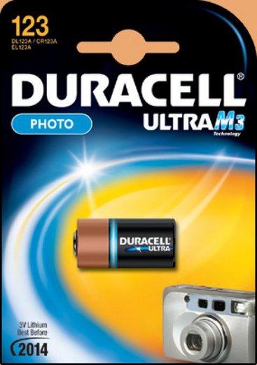Батарейка Элемент питания DURACELL 123 ULTRA BL1