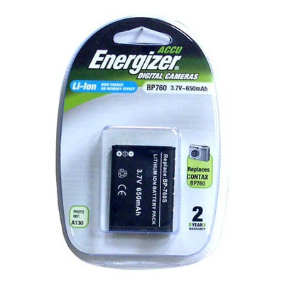 Аккумулятор для фото и видеокамер Energizer BP760 (KYOCERA BP-760S) цифр.ф/ап BL1 K/Li760/3.7V