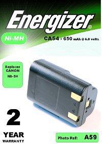 Аккумулятор для фото и видеокамер Аккумулятор Energizer CA54 (Canon NB-5H) цифр.ф/ап BL1