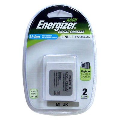 Аккумулятор для фото и видеокамер Energizer ENEL8 (NIKON EN-EL8) цифр.ф/ап BL1 N/Li730/3.7V