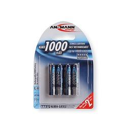 Аккумулятор цилиндрический ANSMANN 1000 AAA BL4