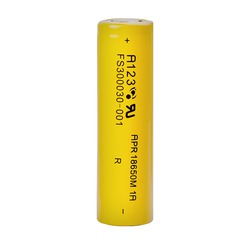 Аккумулятор литиевый A123 SYSTEMS APR18650M1A 1100mAh