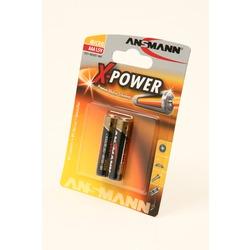 Батарейка бытовая стандартных типоразмеров ANSMANN X-POWER 5015603 LR03 BL2