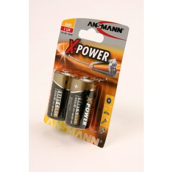 Батарейка бытовая стандартных типоразмеров ANSMANN X-POWER 5015623 LR14 BL2