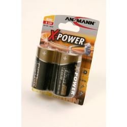 Батарейка бытовая стандартных типоразмеров ANSMANN X-POWER 5015633 LR20 BL2