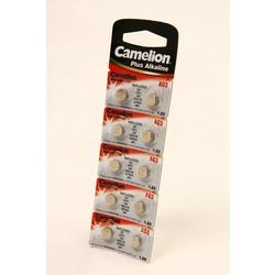 Батарейка алкалиновая часовая Camelion AG3-BP10 AG 3 392 BL10