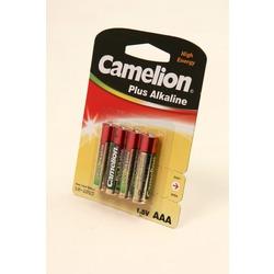 Батарейка бытовая стандартных типоразмеров Camelion Plus Alkaline LR03-BP4 LR03 BL4