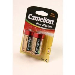 Батарейка бытовая стандартных типоразмеров Camelion Plus Alkaline LR14-BP2 LR14 BL2
