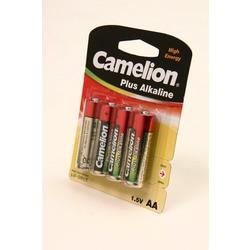Батарейка бытовая стандартных типоразмеров Camelion Plus Alkaline LR6-BP4 LR6 BL4