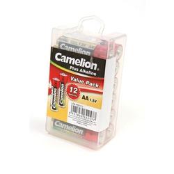 Батарейка бытовая стандартных типоразмеров Camelion Plus Alkaline LR6-PBH12 LR6 в пласт. боксе 12 шт