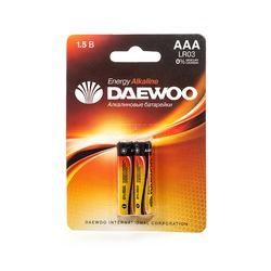 Батарейка бытовая стандартных типоразмеров DAEWOO ENERGY Alkaline LR03EA-2B LR03 BL2