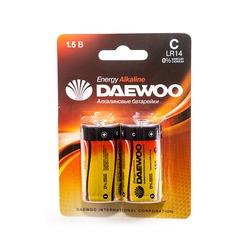 Батарейка бытовая стандартных типоразмеров DAEWOO ENERGY Alkaline LR14EA-2B LR14 BL2