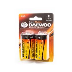 Батарейка бытовая стандартных типоразмеров DAEWOO LR20EA-2B LR20 BL2