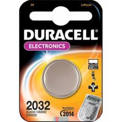 Батарейка дисковая литиевая DURACELL CR2032 BL1