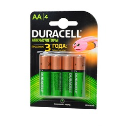 Аккумулятор предзаряженный DURACELL HR6 AA 1300mAh BL4