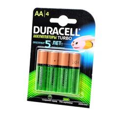 Аккумулятор предзаряженный DURACELL HR6 AA 2400mAh BL4