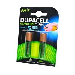 Аккумулятор предзаряженный DURACELL HR6 АА 2400mAh уже заряжены BL2