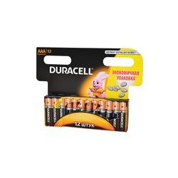 Батарейка бытовая стандартных типоразмеров DURACELL LR03 BL12