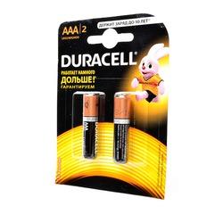 Батарейка бытовая стандартных типоразмеров DURACELL LR03 BL2