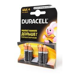 Батарейка бытовая стандартных типоразмеров DURACELL LR03 BL4