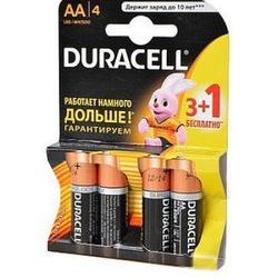 Батарейка бытовая стандартных типоразмеров DURACELL LR6 3+1шт BL4