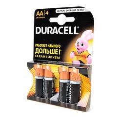 Батарейка бытовая стандартных типоразмеров DURACELL LR6 BL4