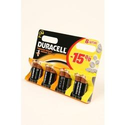 Батарейка бытовая стандартных типоразмеров DURACELL LR6 BL8