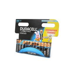 Батарейка бытовая стандартных типоразмеров DURACELL TURBO MAX LR03 BL12