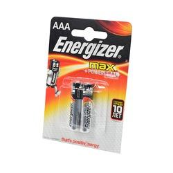 Батарейка бытовая стандартных типоразмеров Energizer MAX+Power Seal LR03 BL2