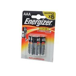 Батарейка бытовая стандартных типоразмеров Energizer MAX+Power Seal LR03 BL6